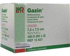 Bios Gazin Kompressen 7,5 x 7,5 cm 8-fach Steril (50 x 2 Stk.)
