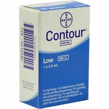 Bayer Contour Kontroll Lösung niedrig (2,5 ml)