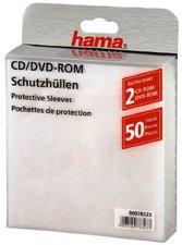 Hama CD-ROM-/DVD-ROM-Schutzhüllen 50, Weiß