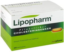 Medphano Lipopharm Pflanzlicher Cholesterinsenker Kapseln (200 Stück)