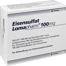 Lomapharm Eisensulfat 100 mg Tabletten (100 Stk.)