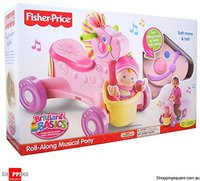 Fisher Price Roll Along Music Pony