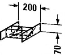 Duravit Glaseinteilung PuraVida 9921