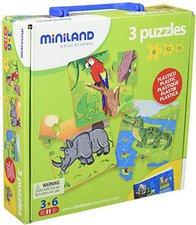 Miniland Set 3 progressive Puzzle - Gefährdete Tiere 1