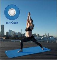 Flockan Pilates- und Yogamatte inkl. Ösen (180 x 60 x 0,6 cm)