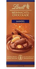 Lindt Weihnachts-Chocolade Mandel 100 g