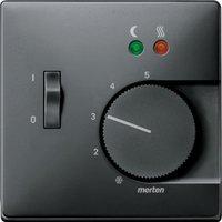 Merten Zentralplatte für Fußbodentemperaturregler-Einsatz mit Schalter (537569)