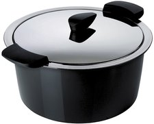 Kuhn Rikon Hotpan Servierkasserolle 18 cm schwarz