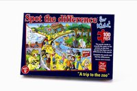 Paul Lamond Games Finden Sie Den Unterschied Eine Reise Zum Zoo Das 100 Stück-Puzzlespiel