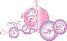 Disney Princess Kutsche Wandsticker