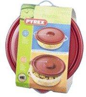 Pyrex Style Mikrowellen-Kasserolle rund 1,5 Ltr.