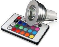 Technaxx LED GU10 RGB SpotLight 3W 25W mit Fernbedienung