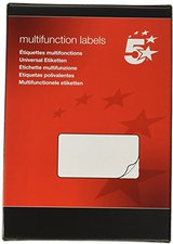 5-Star Inkjet-, Laser-, Kopierer-Etiketten, A5, weiß (903873)