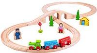 Bigjigs Toys Holzeisenbahn Set Acht mit 43 Teilen