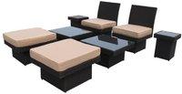 Java Exclusiv Ambientehome Sitzgruppe Tunis 8-teilig Polyrattan (63723)