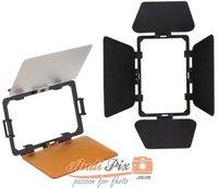 Walimex Abschirmklappen/Filterset für LED Videoleuchte