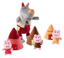 Lilliputiens Wolf und die drei Schweinchen
