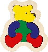 goki Holz-Einlegepuzzle Bär