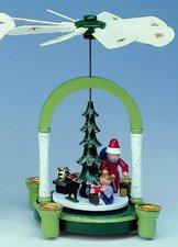 KWO Olbernhau 1-stöckige Pyramide Weihnachtsmann (23 cm)