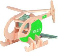 Weico Holzbausatz Polizeihubschrauber mit Solarzelle