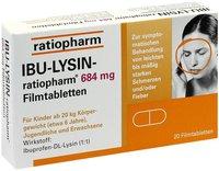 ratiopharm Ibu Lysin 684 mg Filmtabletten (PZN 7628546)