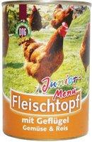 Schecker Fleischtopf Junior-Menü Geflügel, Gemüse, Reis 410 g