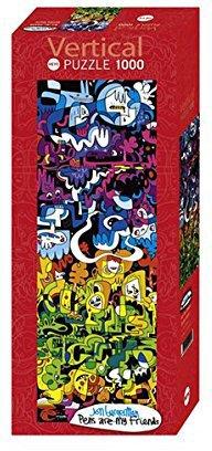 Heye Vertikalpuzzles - Jon Burgerman: Doodle World (1.000 Teile)