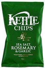 Kettle Foods Chips Sea Salt Rosemary & Garlic (150 g)