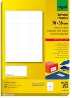 sigel LA132 Universal-Etiketten, 70 x 36 mm, weiß