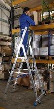 Krause STABILO Stufen-Stehleiter mit Handläufen 9 Stufen