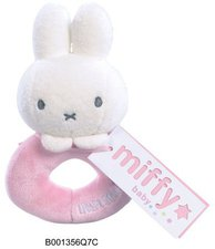 Rainbow Designs Miffy Loop Rattle - Pink