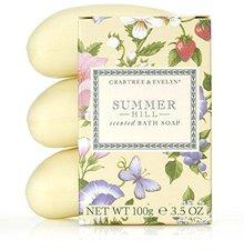 Crabtree & Evelyn Summer Hill dreifach-gemahlene Seife (3 x 100 g)