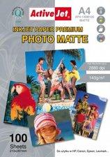 ActiveJet Fotopapier Premium, A4, 140g (AP4-140M100)