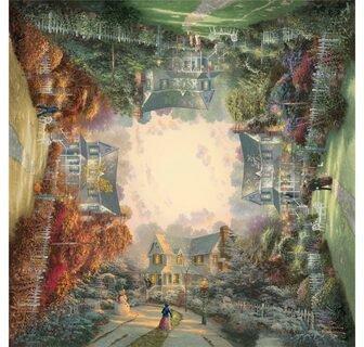 Schmidt Spiele Thomas Kinkade - Viktorianischer Garten (1.000 Teile)