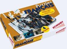Schubi Verlag Puzzles Français - à la maison, ville, village et voyage