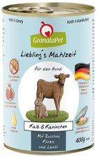 GranataPet Lieblingsmahlzeit Kalb & Wildkaninchen (400 g)