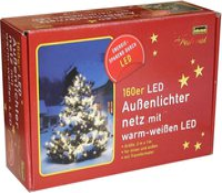 Idena LED Lichternetz warmweiß 160er für außen (8325069)