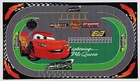 ABC Italia Kinder-Teppich Disney Cars Racing Rug 190 x 133 cm