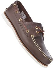 Timberland Classic 2-Tone 2-Eye Boat Shoe - Dark Brown Smooth 74035