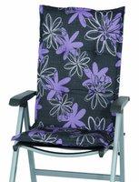 Sun Garden Naxos Relaxliegenauflage 174 x 50 cm (Dessin 30312-52: anthrazit/Blumenmuster)