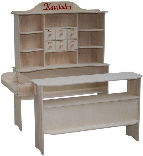 roba kaufladen aus holz inklusive kaufladenzubeh r preisvergleich ab 119 89. Black Bedroom Furniture Sets. Home Design Ideas