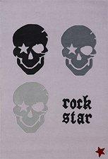 Rock Star Baby Kinderteppich Pirat Totenkopf 200 x 300 cm