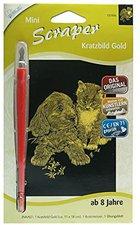Mammut Scraper Kratzbild mini gold Hund & Katze