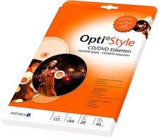 Papyrus Opti Style CD/DVD Etiketten, Ø 117 mm (8081989)