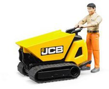 Bruder JCB Dumpster HTD-5 mit Bauarbeiter (62004)