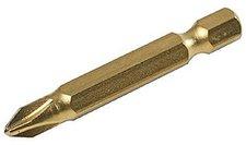 Silverline Tools 508821 Kreuzschlitz 50 mm Gold-Bits 10 Stück Nr.2