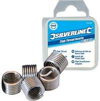 Silverline Tools Helicoil Gewindeeinsatz M6 x 1 mm 25 Stück