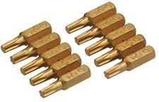 Silverline Tools Torx Gold-Bits T25 10 Stück