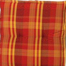 Sun Garden Naxos Hockerauflage 50 x 45 cm (Dessin 10348-3: rot/orange/gestreift)