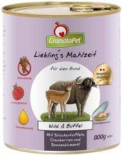 GranataPet Lieblingsmahlzeit Wild, Süßkartoffel, Cranberries & Sonnenblumenöl (800 g)